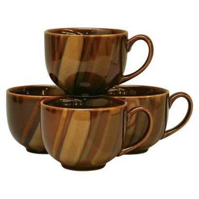 Sango Avanti Jumbo Mug Set of 4 - Brown