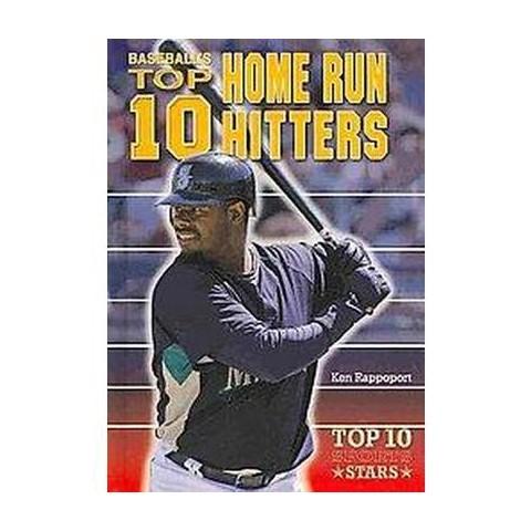 Baseball's Top 10 Home Run Hitters (Hardcover)