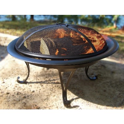 "Round Folding Steel Fire Bowl- 26""- Threshold™"