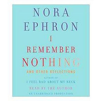 I Remember Nothing (Unabridged) (Compact Disc)