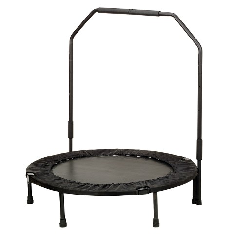 "Sunny Health & Fitness Exercise Trampoline with Bar - Black (27"")"