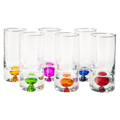INTENSITY ASSORTED 6 PIECE SHOT GLASS SET - 2.25 OZ