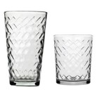 Riatta Glass Tumbler Set of 16 - Clear