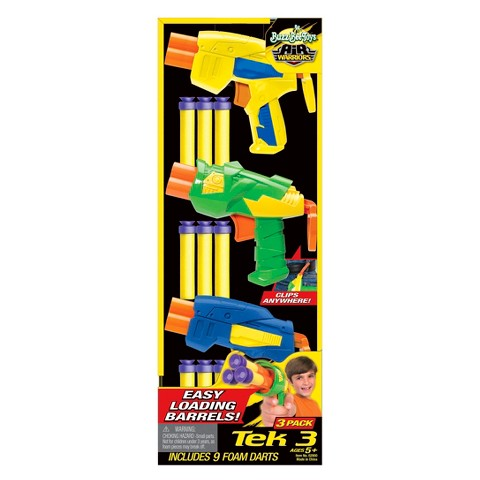 Buzz Bee Tek 3 Air Blasters - Styles and Colors May Vary