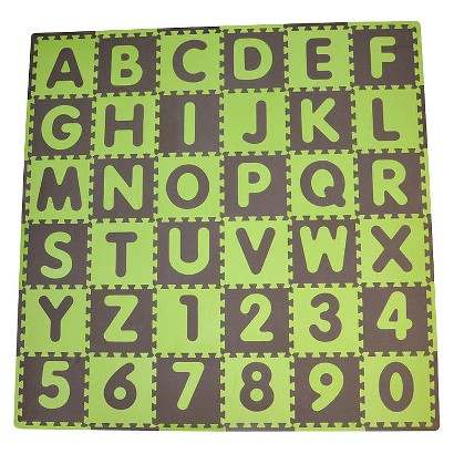 Tadpole Mat 36 Piece - ABC (Green/Brown)