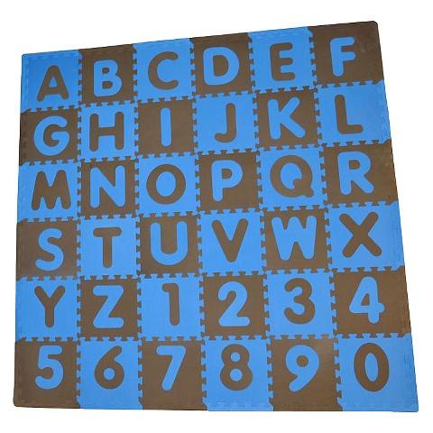 Tadpole Mat 36 Piece - ABC (Blue/Brown)