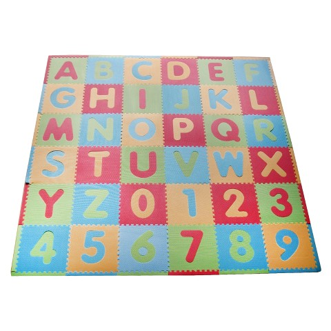 Tadpole Mat 36 Piece - ABC (Multi/Modern)