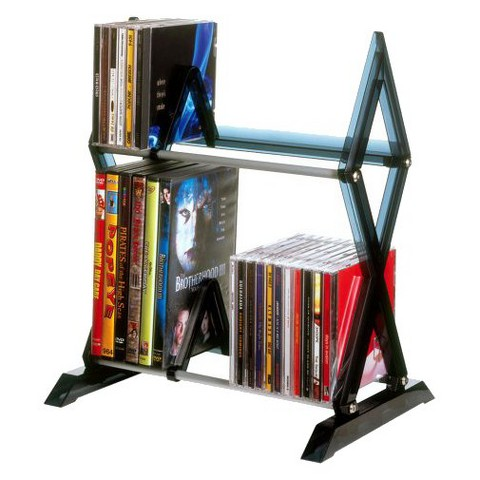 Atlantic Mitsu 2-Tier Media Rack - Smoke