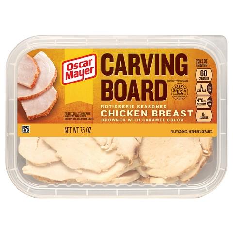 Oscar Mayer Carving Board Seasoned Chicken Breasts 7.5 oz