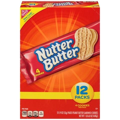 Nutter Butter Peanut Butter Cookies Traypack  12 pk