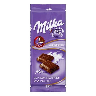 Milka Alpine Milk Chocolate Bar 3.5 oz