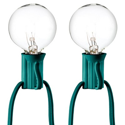 25ct Clear Globe String Lights - Green String - Room Essentials™