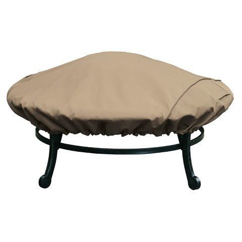 "Threshold™ Round Firepit Cover - Earth/Bark (44"")"