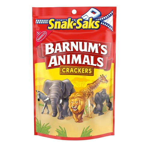 Barnum's Animals Crackers Snak-Saks 8 oz