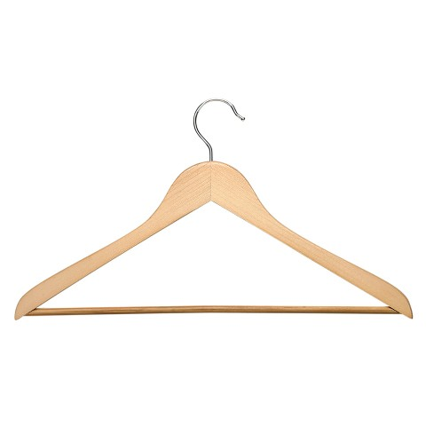 Honey-Can-Do 8 Pack Suit Hanger with Bar - Maple