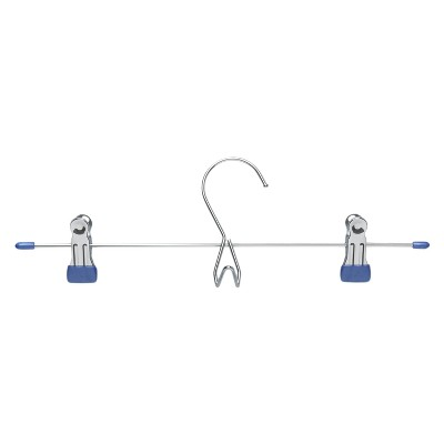 Add-On Skirt/Pant Hanger - Chrome/Blue (6pk)