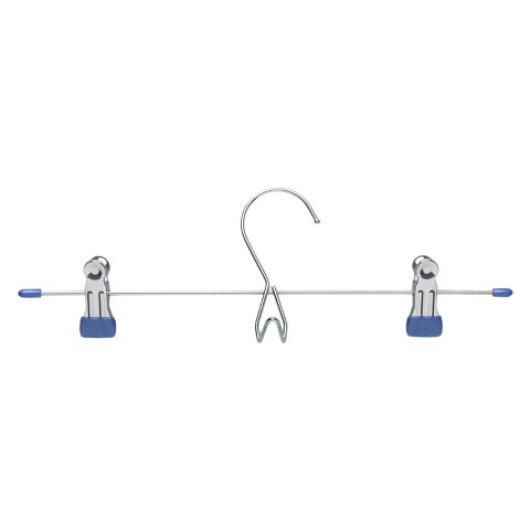 Add-On Skirt/Pant Hanger - Chrome/Blue (6pk)