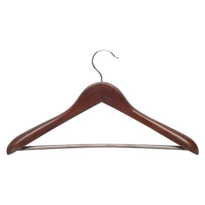 Deluxe Suit Hanger Non-Slip Bar - Cherry (2pk)