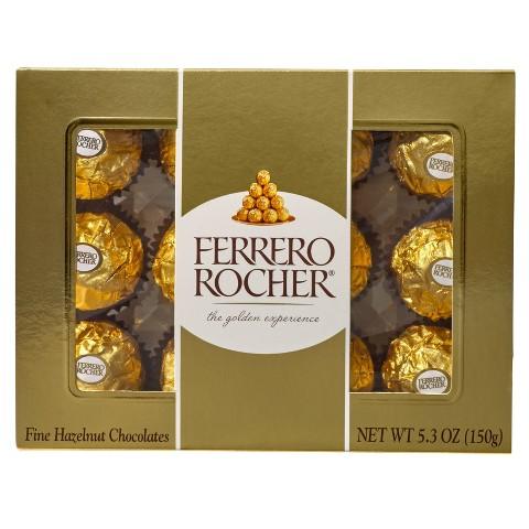Ferrero Rocher Hazelnut Chocolates 5.3 oz