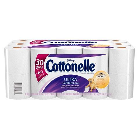 Cottonelle Ultra Comfort Care Toilet Paper 30 Double Rolls