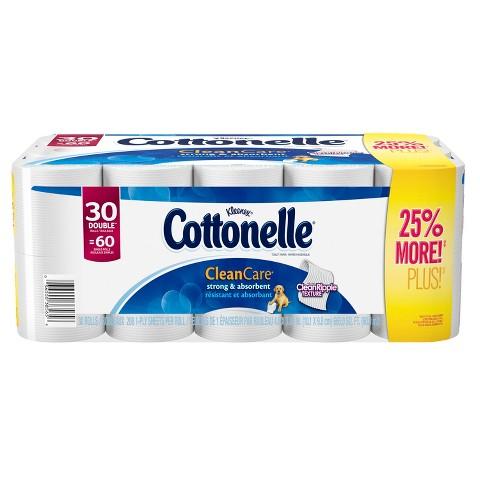 Cottonelle Clean Care Toilet Paper 30 Double Rolls