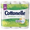 Cottonelle® Gentle Care with Aloe & E Double Roll Toilet Paper product information