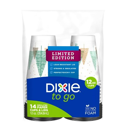 Dixie® PerfecTouch® Grab 'N Go® Cups & Lids - 14 Count (12 oz)