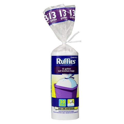 Ruffies Trash Bags, 13-Gal., 30-Ct., Twist Tie