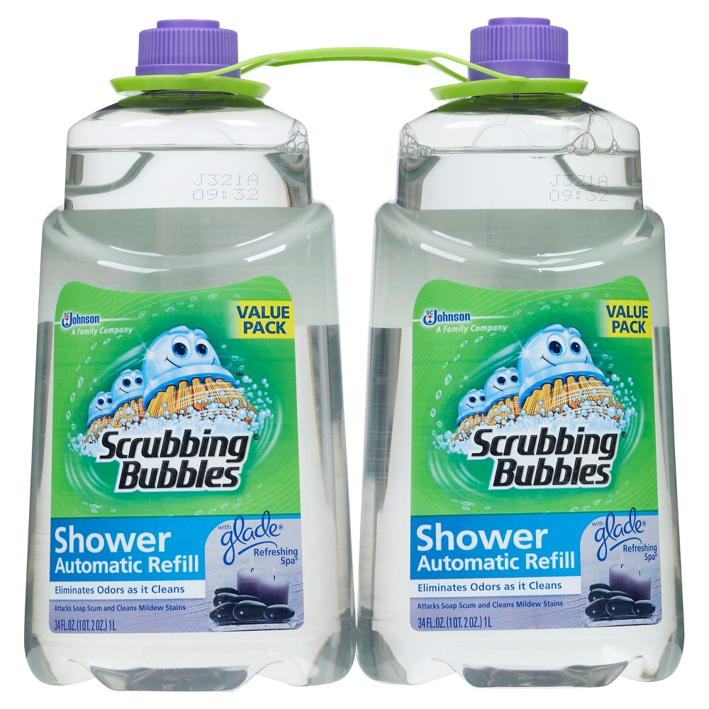 Scrubbing Bubbles Automatic Shower Cleaner Refill, Refreshing Spa, 34 Ounce