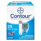 Bayer Contour® Blood Glucose Test Strips - 25 Strips