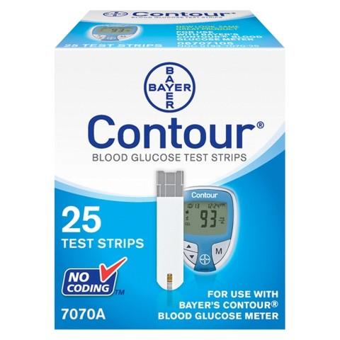 Bayer Contour® Blood Glucose Test Strips - 25 Strips