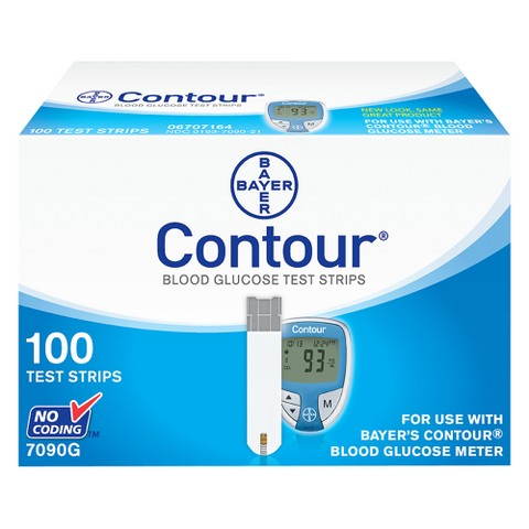 Bayer Contour Blood Glucose Test Strips - 100 Count