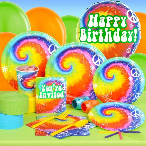 Tie Dye Fun Standard Party Kit for 16