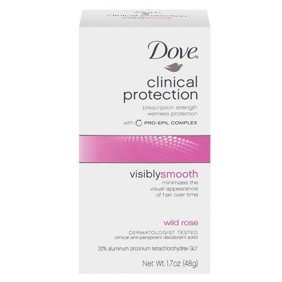 Dove Beauty Clinical Wild Rose 1.7 oz
