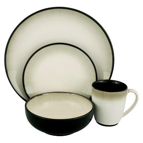 Nova 16-pc. Dinnerware Set - Black