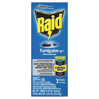 Raid Fumigator Fumigating Fogger 3 ct