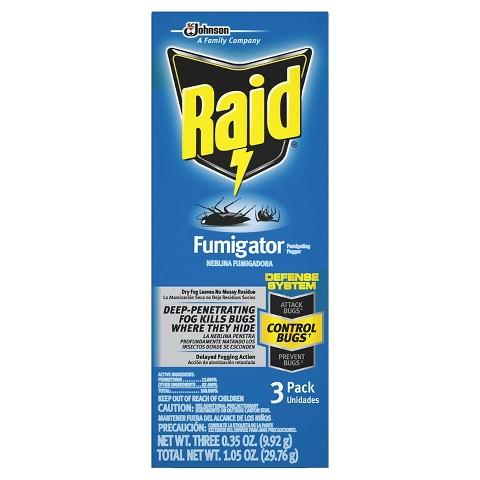 Raid Fumigator - 3pk/1.05oz