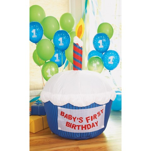 Self-Inflatable Birthday Cupcake with Balloons