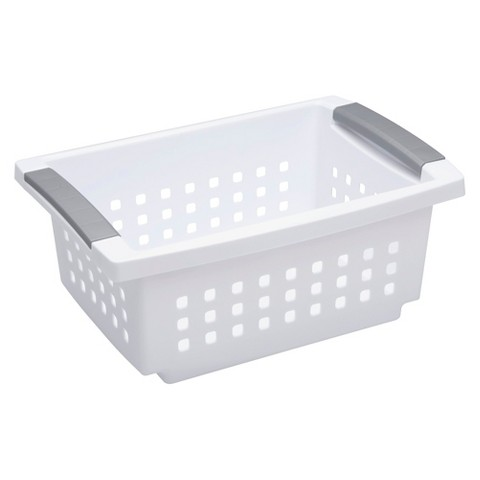 Sterilite® Stacking Storage Bin Set of 6 - White Small