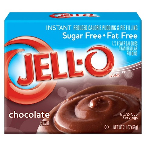Jell-O Instant Sugar Free-Fat Free Chocolate Pudding & Pie Filling 2.1oz