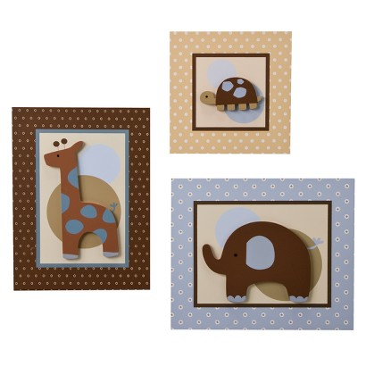 Lambs & Ivy Jake Wall Decor in Blue and Brown