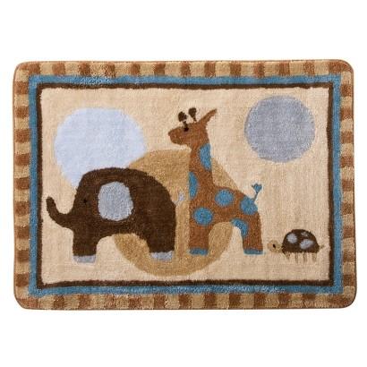 Lambs & Ivy Jake Rug - Blue/Brown