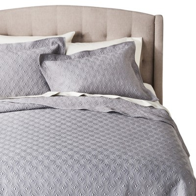 Silk Allure Quilt Set King Gray - Fieldcrest™