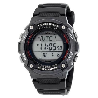 Men's Casio Solar Powered 120-Lap Runners Watch - Black