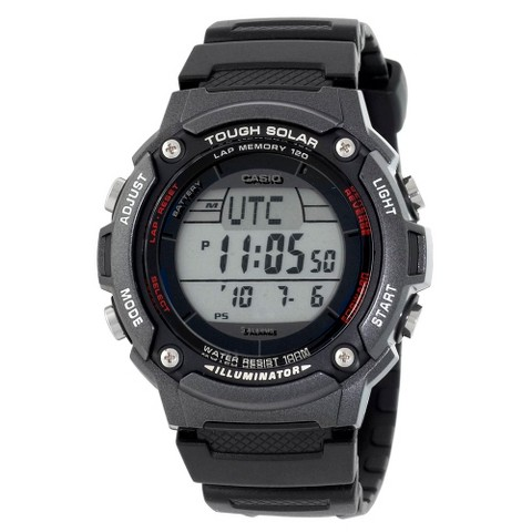 Men's Casio Solar Powered 120-Lap Runners Watch - Black