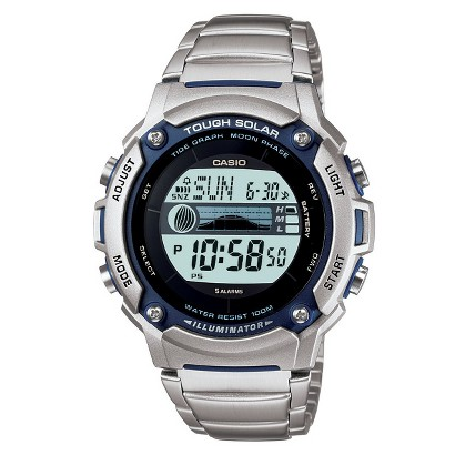 Casio Men's Solar Powered Tide & Moon Graph Watch - Black - WS210HD-1AVCF