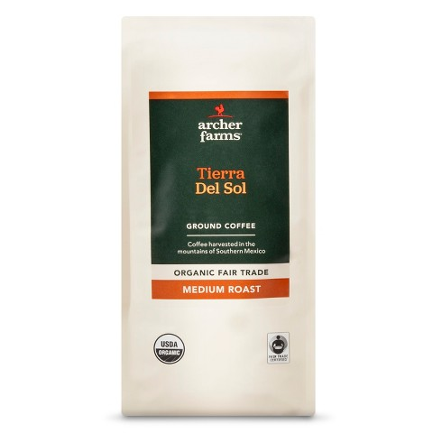 Archer Farms Organic Fair Trade Medium Roast Tierra Del Sol Ground Coffee 12oz