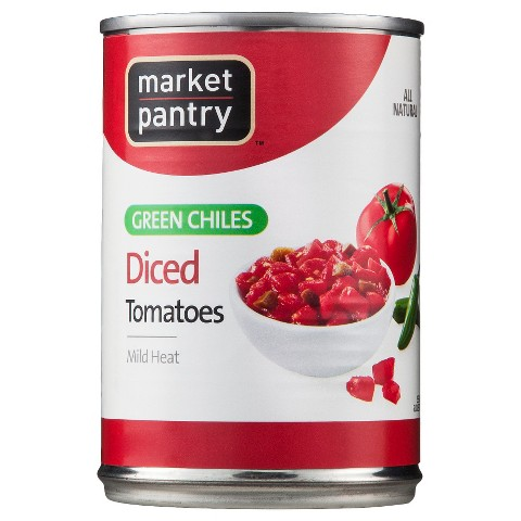 Mild Diced Tomatoes & Green Chiles 10 oz - Market Pantry™