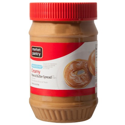 Market Pantry Reduced Fat Creamy Peanut Butter 18 oz