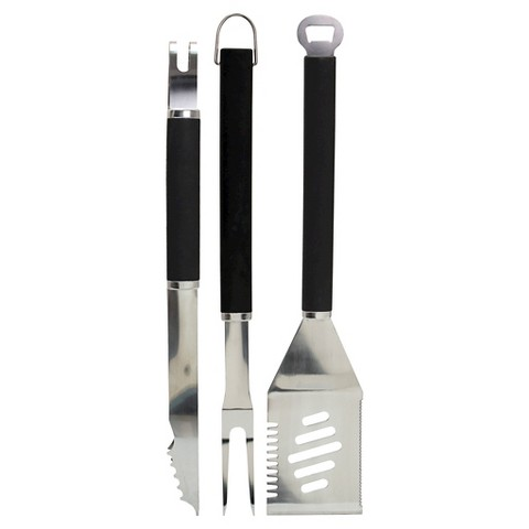 Chefmate 3 pc SS Tool Set w/PP handles
